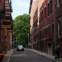 c. A charming stretch of a North End street is classic planned.